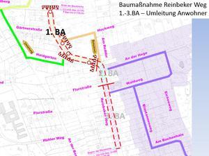 Erreichbarkeit Nebenstraßen 1. BA