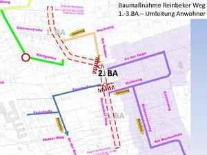 Erreichbarkeit Nebenstraßen 2. BA