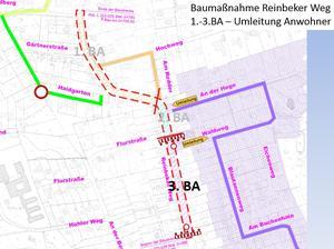 Erreichbarkeit Nebenstraßen 3. BA