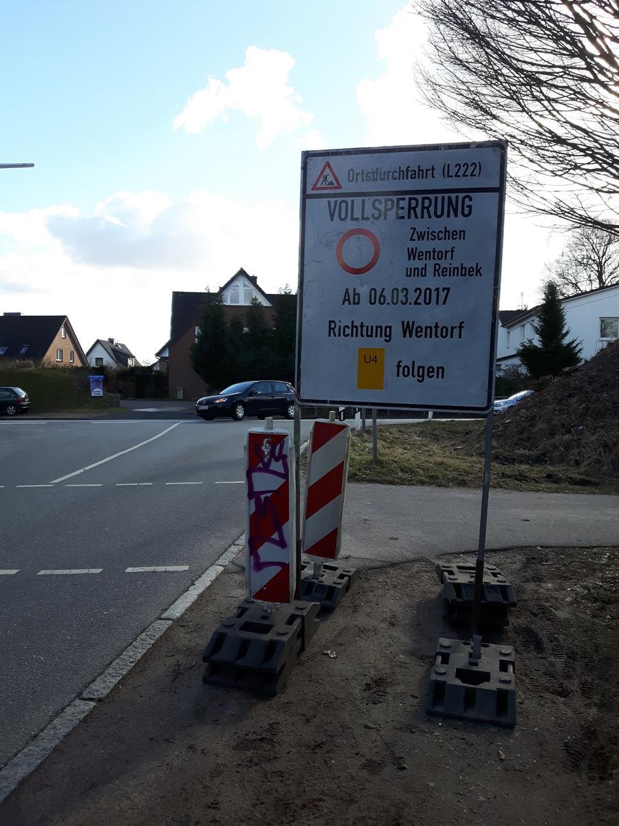 Hinweisschild Schönningstedt