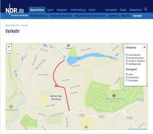 Externer Link: NDR Verkehrsmeldung Reinbeker Weg