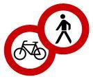 Sperrung Geh- und Radweg Symbol