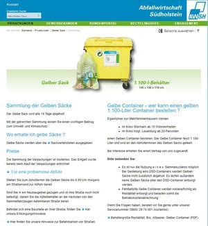 Externer Link: Homepage der AWSH